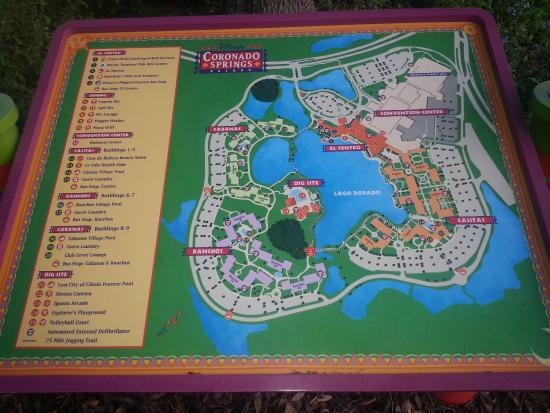 Map Of The Grounds Picture Of Disney S Coronado Springs Resort