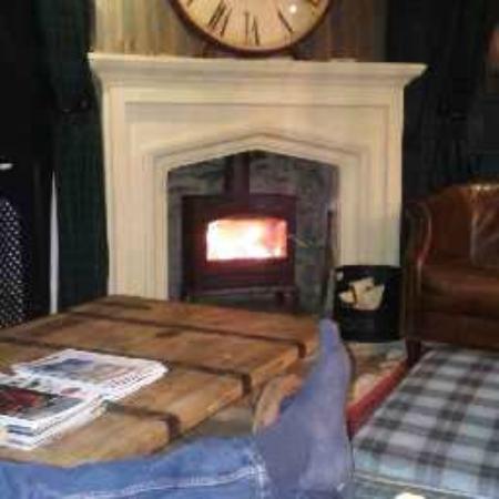 Brigsteer, UK: The wood burner - best part of the evening