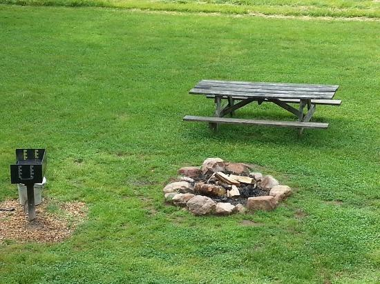 Private Fire Pit Grill And Picnic Table Picture Of Shenandoah - Fire picnic table