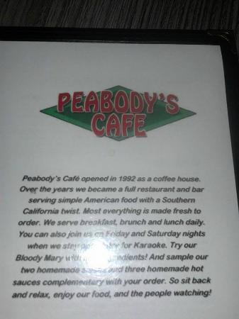 Peabody's Coffee Bar: Peabodys