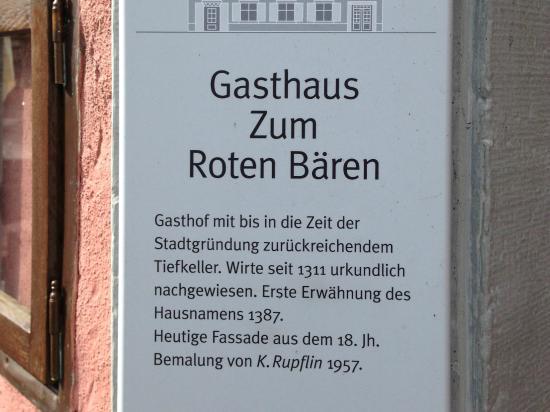 Hotel Zum Roten Bären: Wirte seit 1311 urkundlich nachgewiesen
