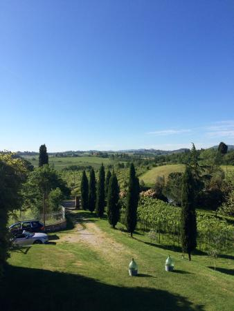 Siena House: Montepulciano in the distance