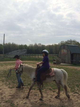 Double JJ Ranch & Golf Resort : My 7 year old with Rangler Veronica
