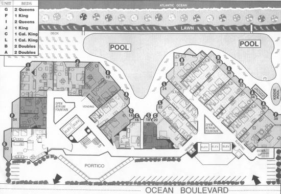 hotel layout Hotel Layout - Picture of The Patricia Grand, Oceana Resorts, Myrtle ...