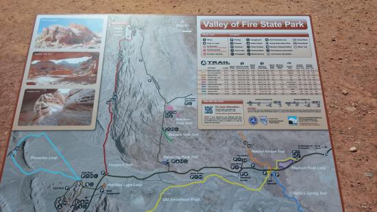 Map Photo De Valley Of Fire State Park Overton Tripadvisor