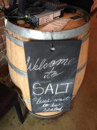Salt Tasting Room : walk in