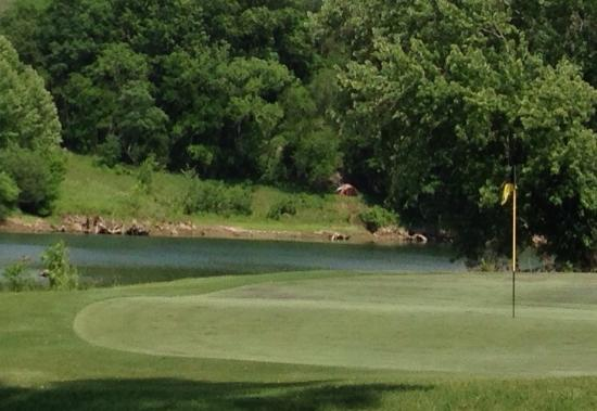 River Islands Golf Club : Looking over the river at the fifth hole.