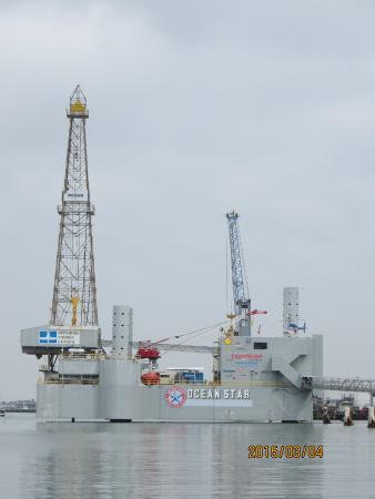 This equipment is BIG! - Picture of Ocean Star Offshore Drilling Rig