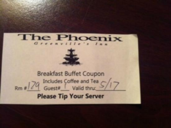 Phoenix Inn of South Carolina: They have to tell me to tip?