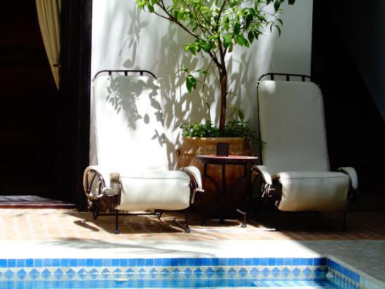 Riad Assouel: Innenhof