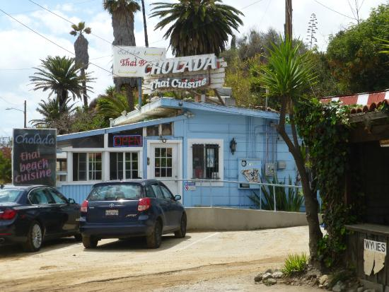 Exterior of Cholada - Note  bait shack to left