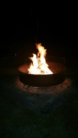 Jordan Lake State Recreation Area: Big fire rings so you can go big with your fire!