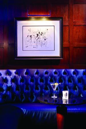 Blue Bar: Al Hirschfeld drawings decorate the Bar