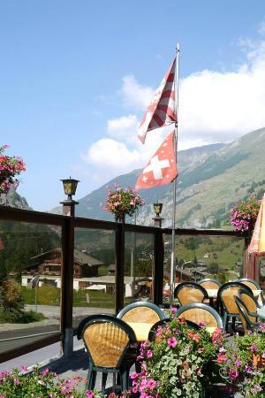 Les Hauderes, Suiza: Extérieur terrasse