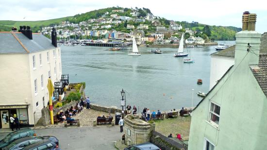 Dart Harbour: The cute harbour from above