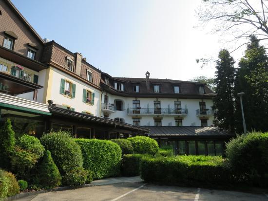 """L'Hôtel de la Prairie : Hotel """"La Prairie"""" in Yverdon; Westfront"""