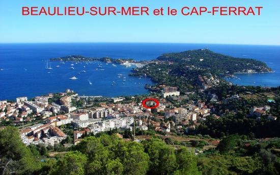 Hôtel Carlton – Beaulieu-sur-mer : Situation du Carlton dans Beaulieu / Location in Beaulieu