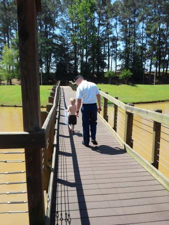 Johnny Henderson Park Trail: little board walk (muddy water due to heavy rain)