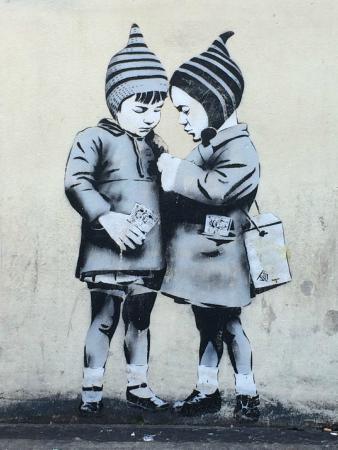Μπρίστολ, UK: Bristol Street Art - Is It a Banksy?