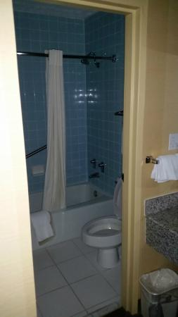 Best Western Fredericksburg: Clean bathroom - but kind of cramped.