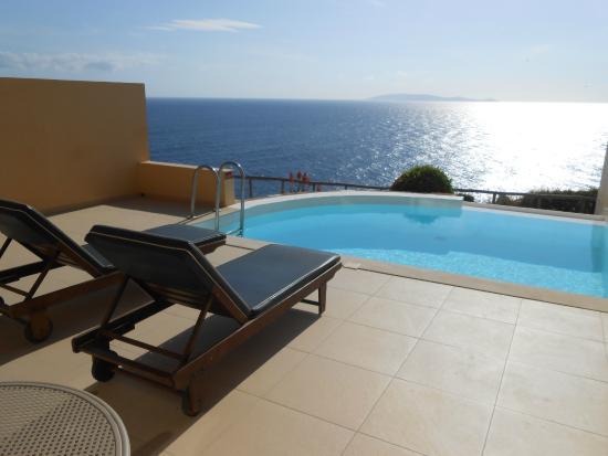 Piscine priv e photo de sea side resort spa agia - Chambre d hotel avec piscine privative ...