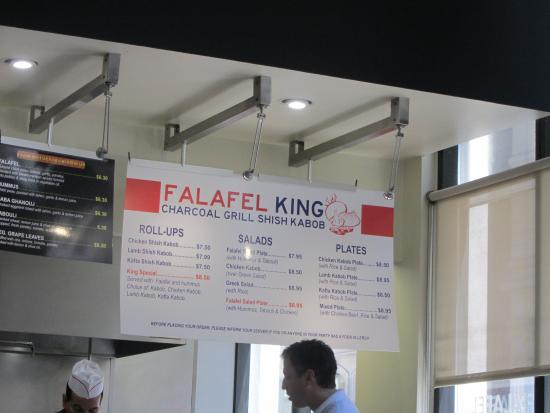 King Falafel Restaurant: Good, fast, and cheap.