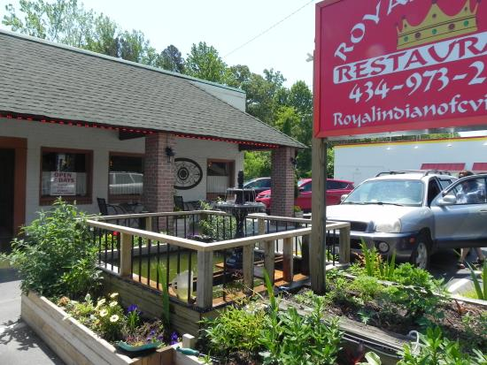 Royal Indian Restaurant: This is the outside with the sign.
