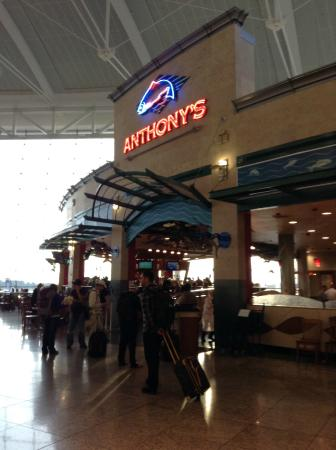 Anthony's: Entrance into bar or restaurant