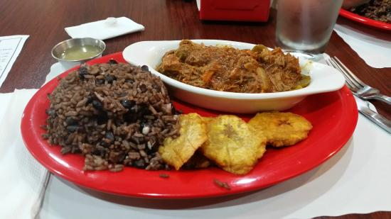 Congri Cuban Restaurant: Ropa Vieja, Congri, and Fried Green Plantains