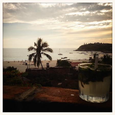 Hotel Flor de Maria: view from the rooftop of the beach sunset bar