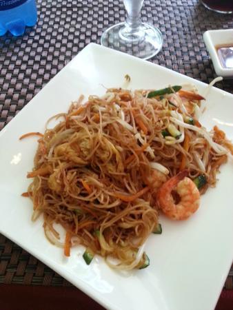 Spaghetti di riso con gamberi e verdure foto di jin for Gamberi alla piastra cinesi