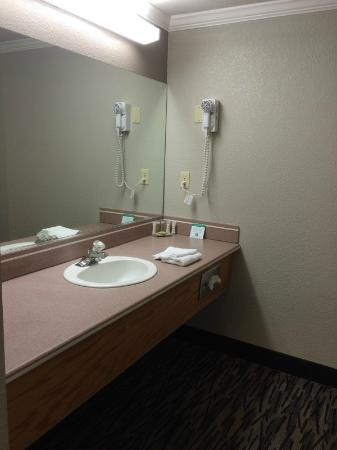 Hotel Parmani: Bathroom vanity area - very spacious!