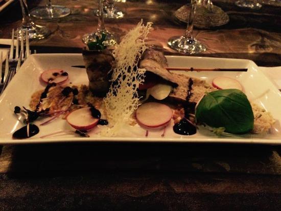 Mediterraneo Restaurant : Aubergine roll starter - amazing!