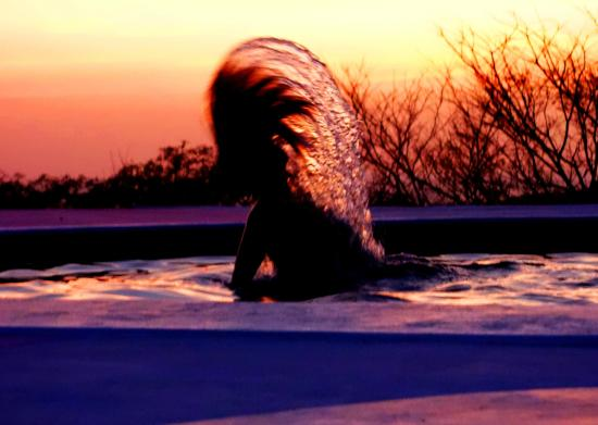 Las Salinas, Nikaragua: Sunset hair flipping
