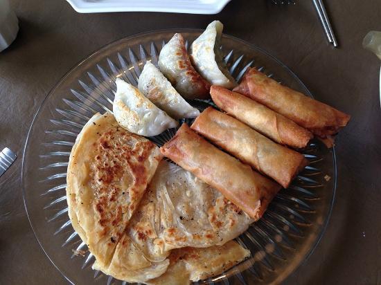 3G Vegetarian Restaurant: Gyoza, Spring Rolls, Pancake