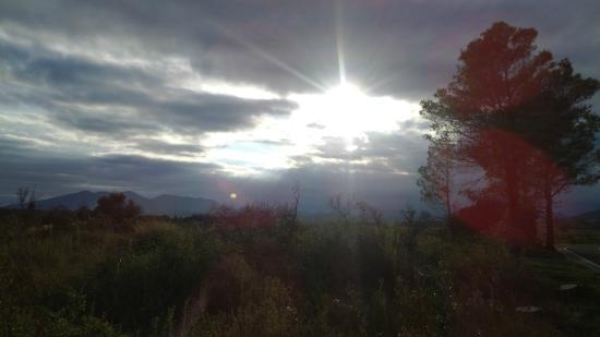 Bassegoda Park: puesta de sol