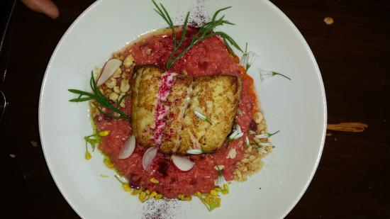 Deasy's Pub & Fish Restaurant : Hake with Beetroot Risotto