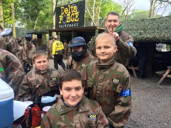 Delta Force Paintball Holmes Chapel: birthday went with a flash bang, just wanted to say thanks to Paul (manager) & Henry and Emma (M