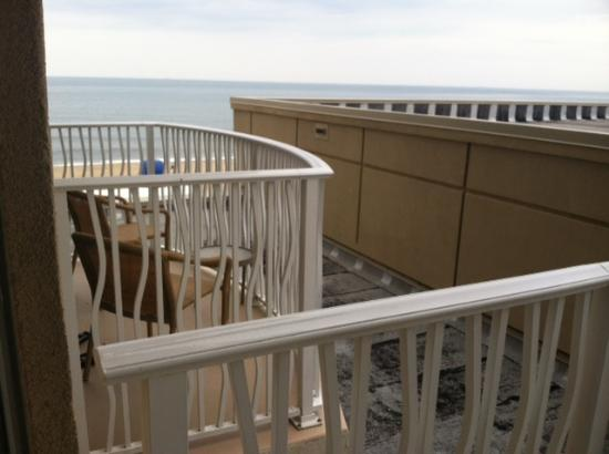 Hilton Virginia Beach Oceanfront : and this was what was considrered our ocean view room on the 5th floor!