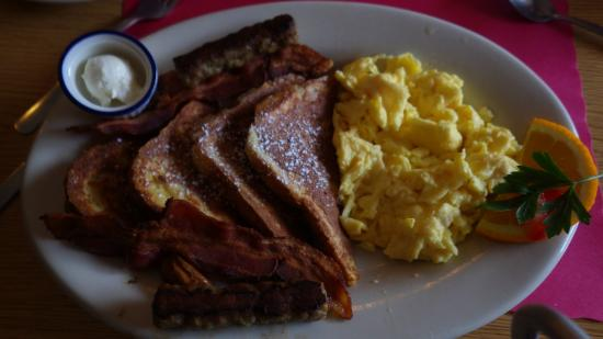 Arundel, ME: French toast and scram eggs,bacon,sausage