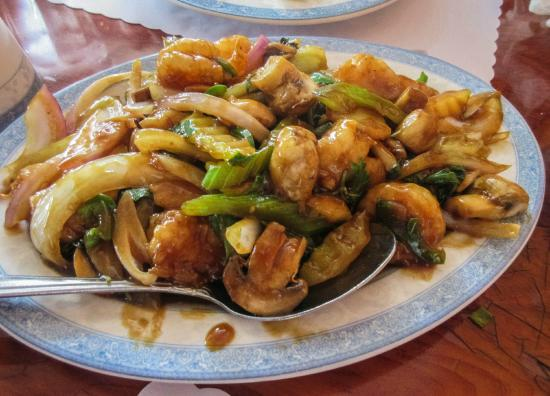 Calimesa, CA: Basil shrimp