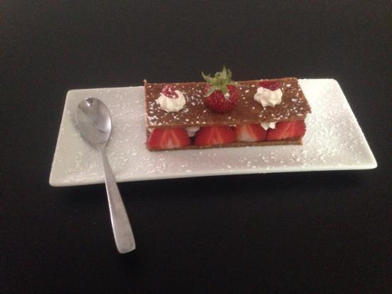 La Gargote : Mille feuille spéculos au fraises mousse mascarpone vanille bourbon