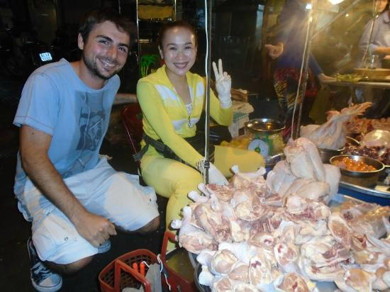 Vietnamese Street Food Tour: hey! chicken lady!