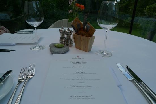Alexander Restaurant at Padaste Manor: Superlative Nordic culinary treats (Aug 2010)