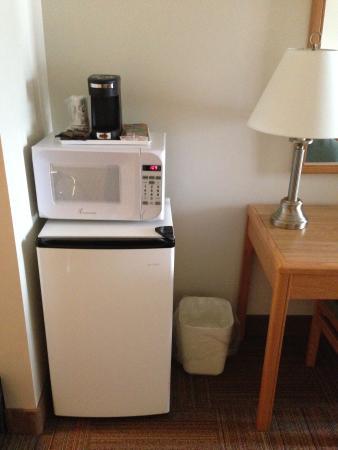 Econo Lodge & Suites: Microwave and fridge.