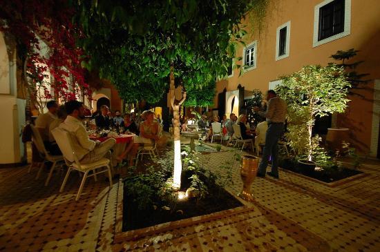 Les Borjs de la Kasbah restaurant: Gala dinner night in main courtyard