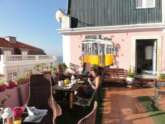 vista terrazza picture of alfama patio hostel lisbon tripadvisor