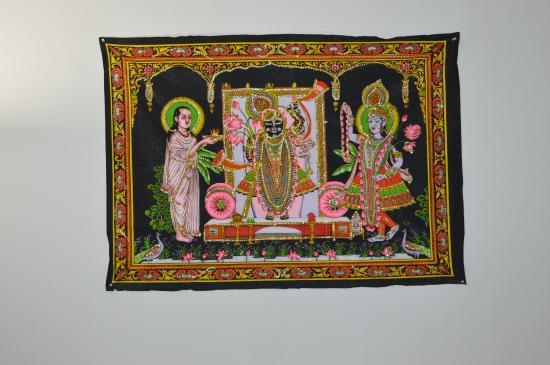 Shrinathji Temple: Left to right, Mahaprabhuji, Shrinathji, Yamunaji