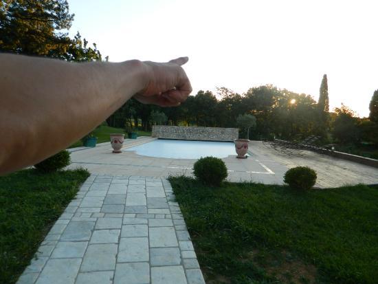 Bastide de Montchamp : vu piscine