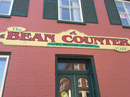 The Bean Counter Cafe: The sign outside